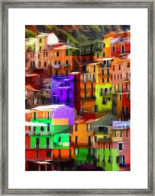 Colored Windows Framed Print by Steve K