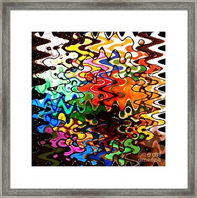 Colorful Abstract Design Square Framed Print by Carol Groenen