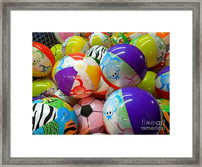 Framed Print featuring the photograph Colorful Balls by Renee Trenholm