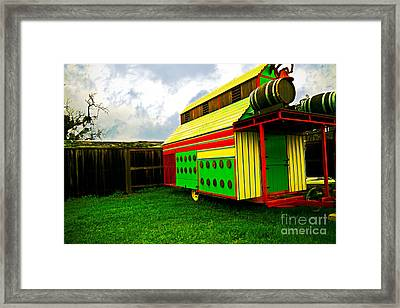 Colorful Barn Framed Print by James Serikov