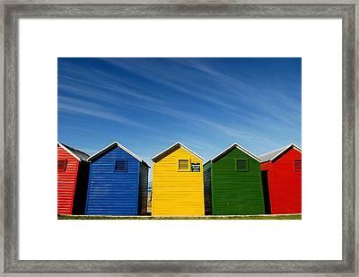 Colorful Beach House Framed Print by Viktor Chan Photography