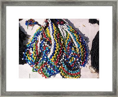 Colorful Beads Jewelery Framed Print