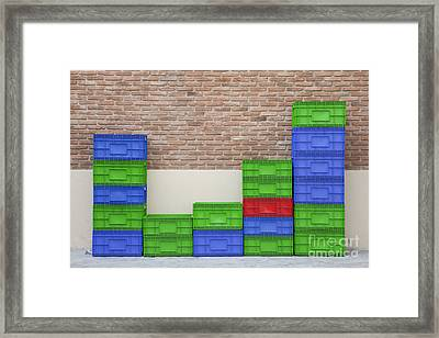Colorful Beer Crates Framed Print by Chavalit Kamolthamanon