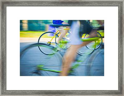 Colorful Bike Race Framed Print by Anthony Doudt