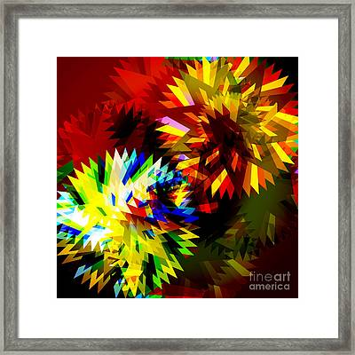 Colorful Blade Framed Print