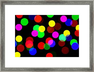 Colorful Bokeh Framed Print by Paul Ge