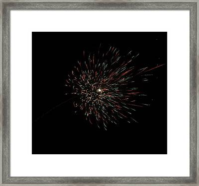 Colorful Burst Of Firecrackers High In The Sky Framed Print by Ashish Agarwal