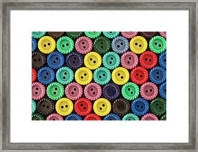 Colorful Buttons Framed Print by Jeff Suhanick