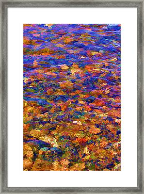 Framed Print featuring the digital art Colorful Clear Creek by Brian Davis