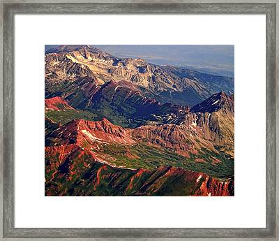 Colorful Colorado Rocky Mountains Planet Art Framed Print by James BO  Insogna