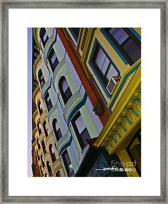 Colorful Coops Framed Print