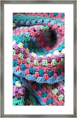 Colorful Crochet Framed Print by Emma Manners