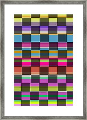 Colorful Cubes Framed Print by Louisa Knight