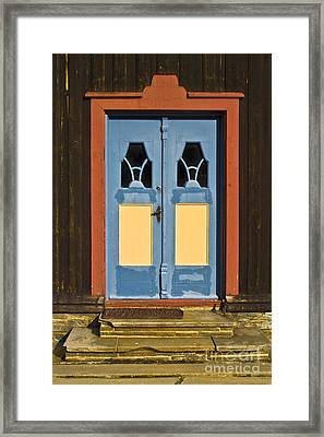 Colorful Entrance Framed Print by Heiko Koehrer-Wagner