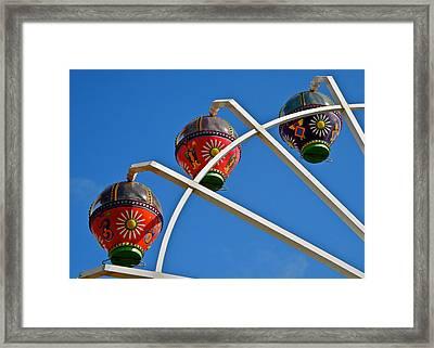 Colorful Ferris Wheel In Glenelg Framed Print