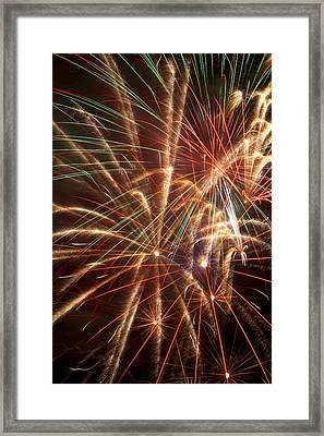 Colorful Fireworks Framed Print