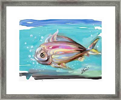 Colorful Fish Framed Print by Alban Dizdari
