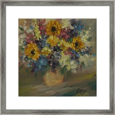 Colorful Floral Framed Print