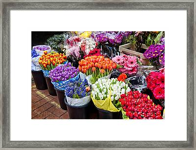 Colorful Flower Market Framed Print by Cheryl Davis