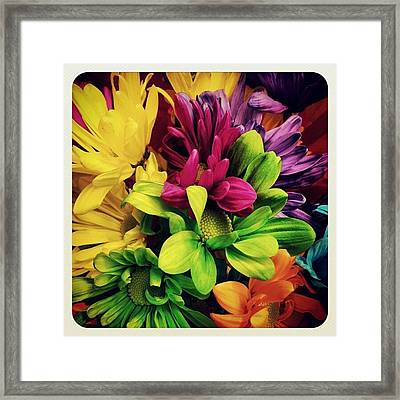 #colorful #flowers Framed Print