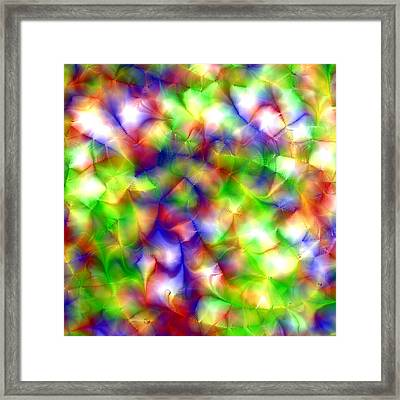 Colorful Fractal Abstract  Framed Print by Gina Lee Manley
