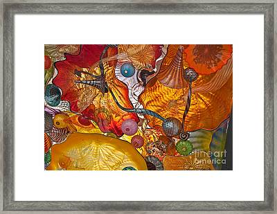 Colorful Glass Still Life Framed Print