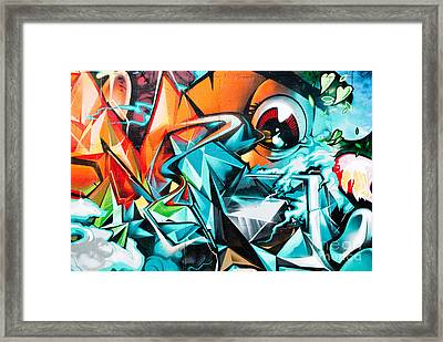 Colorful Graffiti Fragment Framed Print