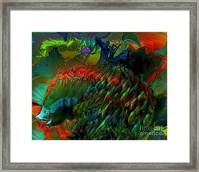 Colorful Hedgehog Framed Print by Doris Wood