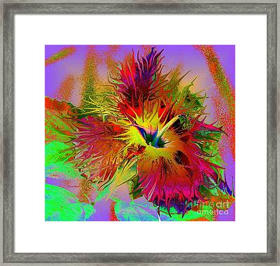 Colorful Hibiscus Framed Print by Doris Wood