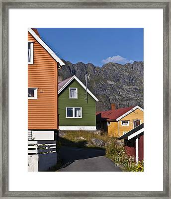 Colorful Houses Framed Print by Heiko Koehrer-Wagner