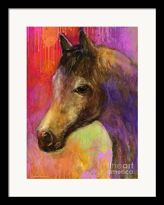 Quarterhorses Framed Prints
