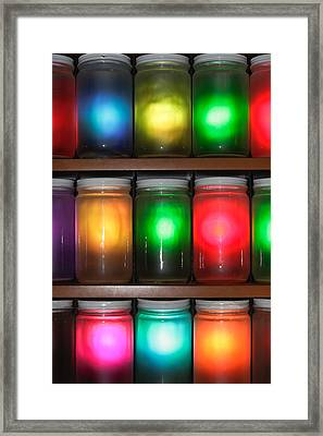 Colorful Jars Framed Print by Tom Gowanlock
