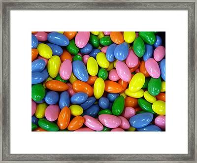Colorful Jordan Almonds Close Framed Print