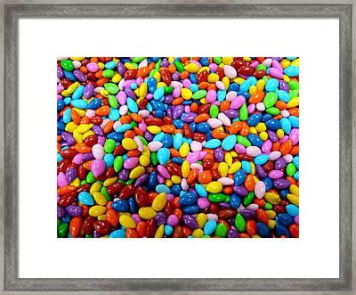 Colorful Jordan Almonds Framed Print