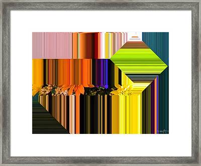 Colorful Kaleidoscope Framed Print by Michelle Frizzell-Thompson