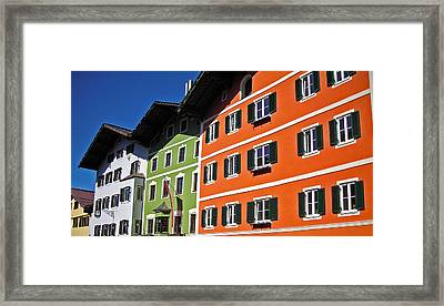 Colorful Kitzbuehel - Austria Framed Print by Juergen Weiss