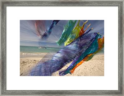 Colorful Laundry On A Windy Day Framed Print by Michael Melford