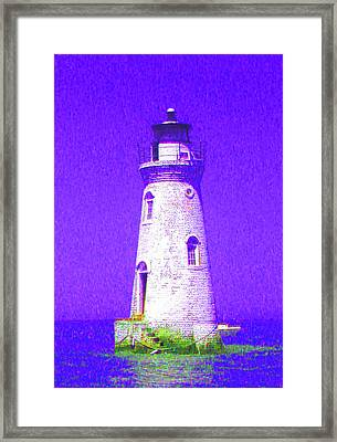 Colorful Lighthouse Framed Print by Juliana  Blessington