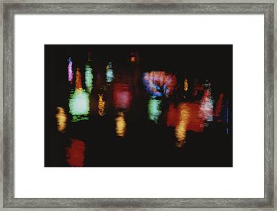Colorful Neon Of Popular Nightspots Framed Print by Stephen St. John
