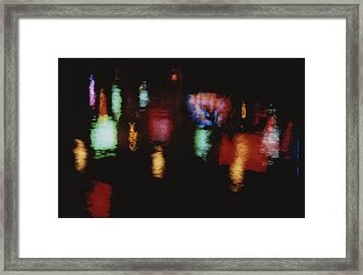 Colorful Neon Of Popular Nightspots Framed Print