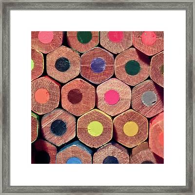 Colorful Painting Pencils Framed Print by Erdem Civelek visual