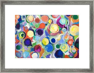 Colorful Planets Framed Print by Kazuya Akimoto