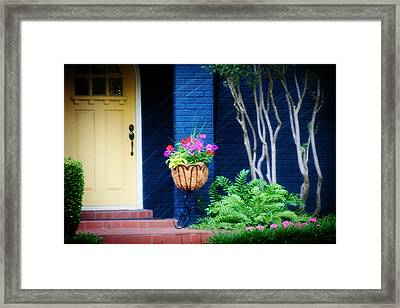 Colorful Porch Framed Print by Toni Hopper