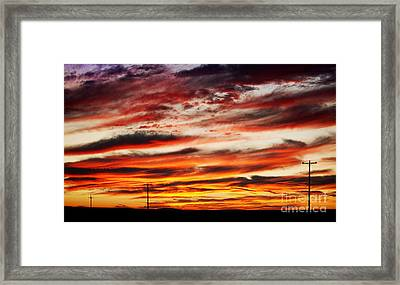 Colorful Rural Country Sunrise Framed Print by James BO  Insogna
