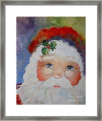Colorful Santa Framed Print by Terri Maddin-Miller