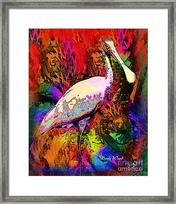 Colorful Spoonbill Framed Print by Doris Wood