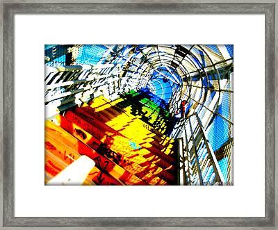 Colorful Steps Framed Print by D Wash