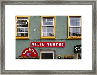 Colorful Store Signs In Kinsale Framed Print