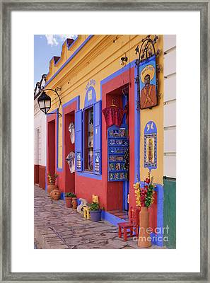 Colorful Storefront Framed Print by Jeremy Woodhouse