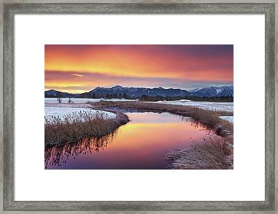 Colorful Sunrise Framed Print by by Michael Breitung Photography -> www.mibreit-photo.com